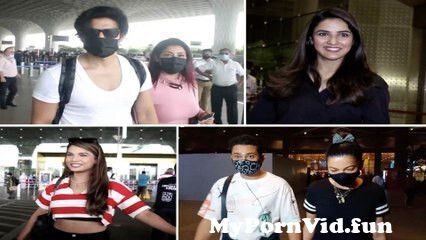 View Full Screen: gurmeet chaudhary debina bonnerjee jasmin bhasin gauahar amp zaid darbar naina singh at the airport.jpg