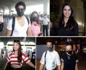 #GurmeetChaudhary , #DebinaBonnerjee , #JasminBhasin , #GauaharKhan & #ZaidDarbar , #NainaSingh snapped at the airport<br/>