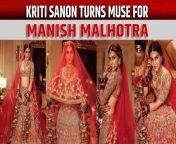 Actress Kriti Sanon recently turned muse for ace designer Manish Malhotra's latest bridal edit 'Nooraniyat'.<br/><br/>#kritisanon #nooraniyat #manishmalhotra<br/>