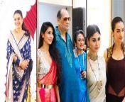 Gorgeous Bengali beauties Mouni Roy, Kajol and her sister Tanishaa Mukerji celebrated Navratri 2021 together.