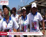 Accueil de Laurent Gbagbo/Ambiance à l'espace CPl Yopougon: les partisans se prononcent