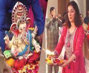 Divya Khosla Kumar and Bhushan Kumar bid an emotional goodbye to Lord Ganpati on the 10th day of the Ganpati festival.